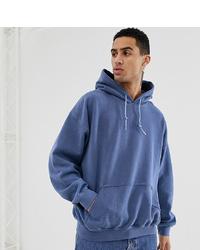 Sudadera con capucha azul de Reclaimed Vintage