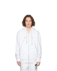 Sudadera con capucha blanca de Maison Margiela