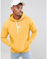 Sudadera con capucha bordada amarilla de Nike