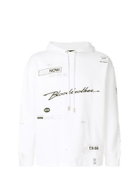 Sudadera con capucha bordada blanca de Blood Brother