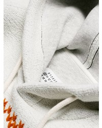 Sudadera con capucha bordada blanca de Maison Margiela