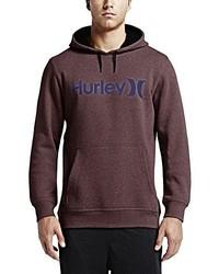 Sudadera con capucha burdeos de Hurley