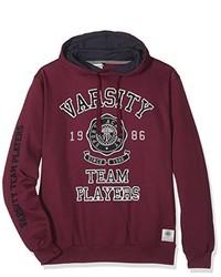 Sudadera con capucha burdeos de Varsity Team Players