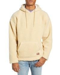 Sudadera con capucha de forro polar en beige