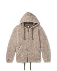 Sudadera con capucha de forro polar en beige de Aspesi