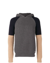 Sudadera con capucha de punto en gris oscuro de DSQUARED2