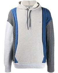 Sudadera con capucha de punto gris de Tommy Jeans