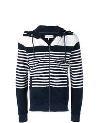 Sudadera con capucha de rayas horizontales en blanco y azul marino de Orlebar Brown