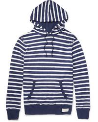 Sudadera con capucha de rayas horizontales en blanco y azul marino de Polo Ralph Lauren