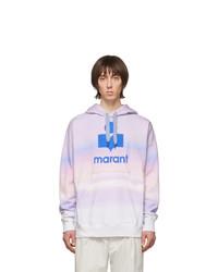 Sudadera con capucha efecto teñido anudado violeta claro de Isabel Marant