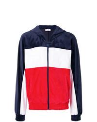 Sudadera con capucha en blanco y rojo y azul marino de Fila