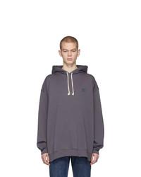 Sudadera con capucha en gris oscuro de Acne Studios