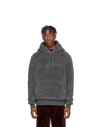 Sudadera con capucha en gris oscuro de Noah NYC