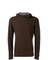 Sudadera con capucha en marrón oscuro de Dondup
