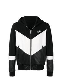 Sudadera con capucha en negro y blanco de Givenchy