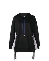 Sudadera con capucha en negro y blanco de Stella McCartney