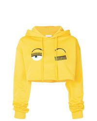Sudadera con capucha estampada amarilla de Chiara Ferragni