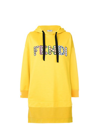 Sudadera con capucha estampada amarilla de Fendi
