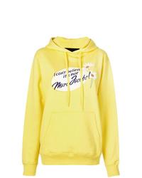Sudadera con capucha estampada amarilla de Marc Jacobs