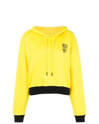Sudadera con capucha estampada amarilla de Off-White