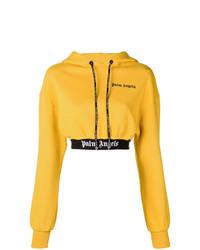 Sudadera con capucha estampada amarilla de Palm Angels