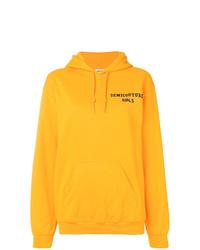 Sudadera con capucha estampada amarilla de Semicouture