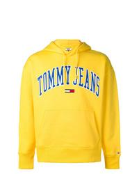Sudadera con capucha estampada amarilla de Tommy Jeans