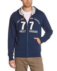 Sudadera con capucha estampada azul marino de Helly Hansen