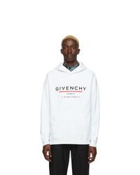 Sudadera con capucha estampada blanca de Givenchy