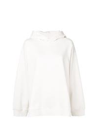 Sudadera con capucha estampada blanca de MM6 MAISON MARGIELA