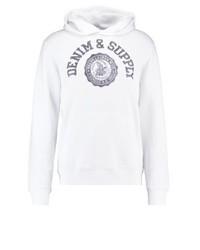 Sudadera con capucha estampada blanca de Ralph Lauren