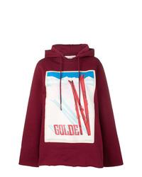 Sudadera con capucha estampada burdeos de Golden Goose Deluxe Brand