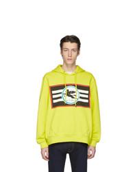 Sudadera con capucha estampada en amarillo verdoso de Etro