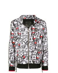 Sudadera con capucha estampada en blanco y negro de Philipp Plein