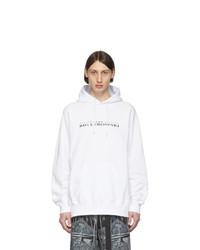 Sudadera con capucha estampada en blanco y negro de Sacai