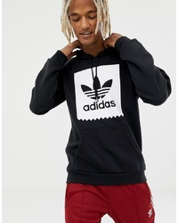 Sudadera con capucha estampada en negro y blanco de Adidas Skateboarding