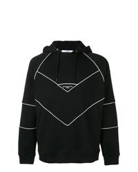 Sudadera con capucha estampada en negro y blanco de Givenchy