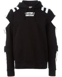 Sudadera con capucha estampada en negro y blanco de Hood by Air