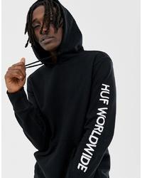 Sudadera con capucha estampada en negro y blanco de HUF