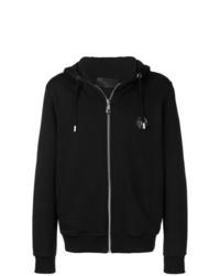 Sudadera con capucha estampada en negro y blanco de Philipp Plein