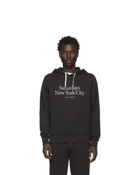 Sudadera con capucha estampada en negro y blanco de Saturdays Nyc
