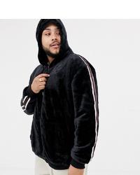 Sudadera con capucha estampada en negro y blanco de Soul Star