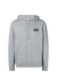 Sudadera con capucha estampada gris de A.P.C.