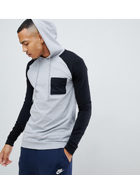 Sudadera con capucha estampada gris de ASOS DESIGN