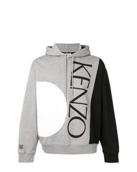 Sudadera con capucha estampada gris de Kenzo
