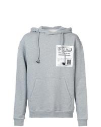 Sudadera con capucha estampada gris de Maison Margiela