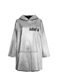 Sudadera con capucha estampada gris de MM6 MAISON MARGIELA
