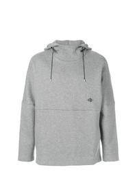 Sudadera con capucha estampada gris de Oamc