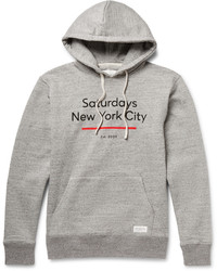 Sudadera con capucha estampada gris de Saturdays Nyc