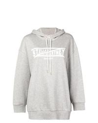 Sudadera con capucha estampada gris de Stella McCartney